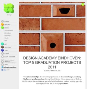 Design Academy Eindhoven: Top 5 Graduation Projects 2011